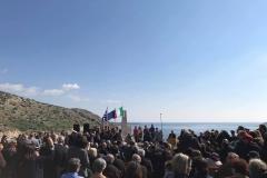 La cerimonia di commemorazione del 75° anniversario del naufragio del Piroscafo Oria