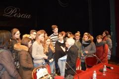 Vera Michelin Salomon con gli studenti delle scuole superiori di Pescia