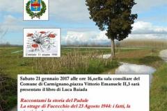 Locandina presentazione libro Baiada a Carmignano